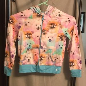 Justice Puppies Full Zip Hoodie Jacket